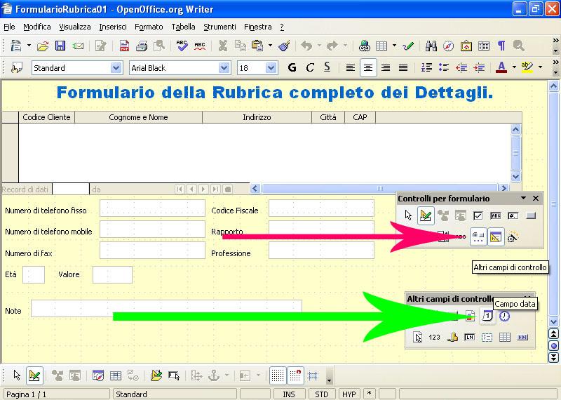 Inserire Calendario In Excel Menu A Tendina.Inserire Un Campo Che Conterra Una Data